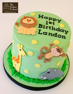 Best Image of Safari Birthday Cake . Safari Birthday Cake Safari Birthday Cake Topper Birthday The Hudson Cakery Jungle Birthday Cakes, Jungle Theme Cakes, Boys 1st Birthday Cake, Animal Birthday Cakes, 1st Birthday Cake Topper, Safari Cakes, Themed Birthday Cakes, Cupcakes, Cupcake Cakes