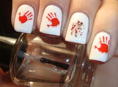Bloody hand nails.  Decals