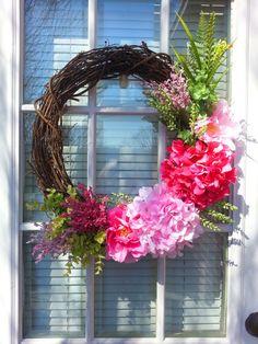 Spring Grapevine Wreath Summer Wreath by ShadesOfTheSeasons, $75.00