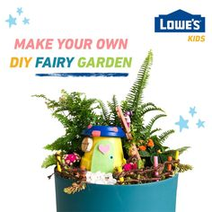 Use craft and gardening supplies from around your house to make magical potted fairy gardens!