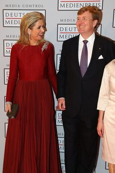 King Willem-Alexander of the Netherlands and Queen Maxima of the Netherlands attends the German Media Award on March 21, 2014 in Baden-Baden, Germany.