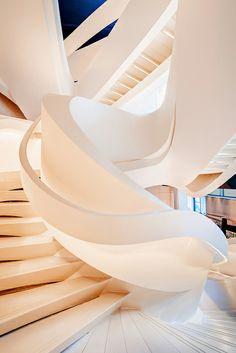 New Ideas Public Stairs Architecture Zaha Hadid Architecture Design, Beautiful Architecture, Stairs Architecture, Zaha Hadid Architecture, Installation Architecture, Organic Architecture, Architecture Portfolio, Landscape Architecture, Beautiful Stairs