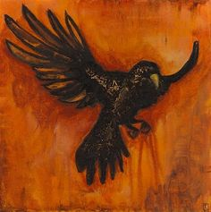 New Crow Painting – The Flight