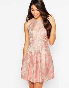 Oasis Floral Jacquard Dress