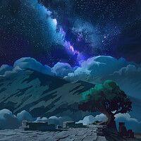 ArtStation - Nature , Kevin Gnutzmans Northern Lights, Mood, Night, Sketches, Artwork, Nature, Travel, Instagram, Art Work