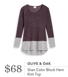 Stitch Fix Olive & Oak Shan Color Block Hem Knit Top