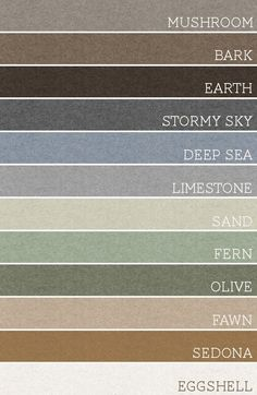Take any 3 of these earth tones, the colors will coordinate and look amazing. I can see tons of potential for color work here.