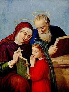 São Joaquim, Santa Ana e a Virgem Maria.