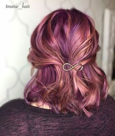 Nov 2018 - Colours of the Rainbow. See more ideas about Hair, Dyed hair and Hair styles. Rose Gold Hair, Purple Hair, Pastel Hair, Funky Hairstyles, Pretty Hairstyles, Latest Hairstyles, Love Hair, Gorgeous Hair, Funky Hair Colors