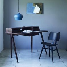 Walnut Treviso Desk with Black Butterfly Chair.jpg