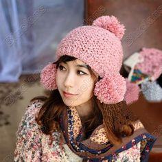 Cute Fat Unicorn Farting Rainbow Knitted Hat Soft Skull Beanies Childrens Cuffed Plain Cap