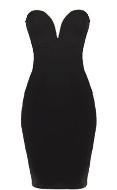 Hourglass Vixen Dress: Features a sexy plunging sweetheart neckline, sleek body-conscious fit, subtle texture to the fabric, and a demure knee-length design to finish.