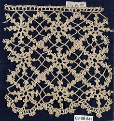 Search the Metropolitan Museum's Collection Online. Irish Crochet, Crochet Lace, Crochet Dresses, Lacemaking, Antique Lace, Museum Collection, Metropolitan Museum, Vintage Antiques, Needlework