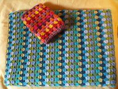 SchizoArt: Crochet Granny lines Laptop and camera pouches + Blanket update!