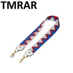 2017 New handbags strap star design national triangle canvas bag straps stripe new trendy easy holding shoulder straps qn211