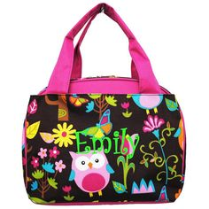 Personalized Insulated Canvas Owl Lunch Tote  by MauriceMonograms, $23.00