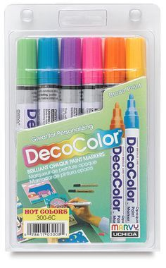 Deco Color Paint Pens - something I want to try for rock painting. Anyone know if these work? Pebble Painting, Pebble Art, Painting Tips, Stone Painting, Rock Painting, Stone Crafts, Rock Crafts, Paint Pens, Paint Markers