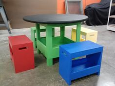 Kid's storage table and benches | Do It Yourself Home Projects from Ana White