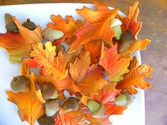 Leaves made out of sugar!