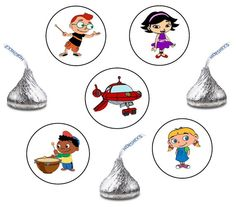 Little Einsteins Hershey Kiss Stickers