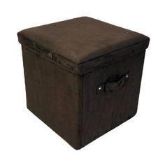 Amazon.com: Yu Shan Folding Storage Ottoman Microsuede, Brown: Furniture & Decor