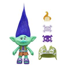 Crank up the fun with this Dreamworks Trolls Branch figure! He still has to learn to let his true colors shine. For oodles of hairstyling fun, this colorful figure has wild hair and comes with a comb and Fuzzy Flair material. Imagine magical scenes from the movie with fabulous accessories like his signature belt and shoes!<br><br>The Dreamworks Trolls 9 inch Figure - Branch Features:<br><ul><li>Dreamworks Trolls Branch figure from the movie</li><br&...