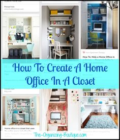 How To Create A Home Office In A Closet | The-Organizing-Boutique.com