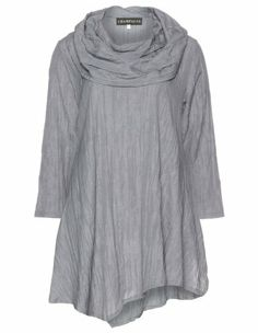 Cowl neck crinkle tunic  by Champagne. Shop now: http://www.navabi.co.uk/shirts-champagne-cowl-neck-crinkle-tunic-anthracite-19046-2500.html?utm_source=pinterest&utm_medium=social-media&utm_campaign=pin-it