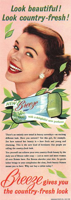 Breeze Soap advertisement. by totallymystified, via Flickr    1955