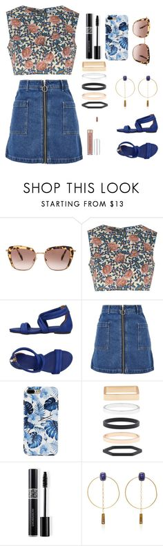 """Untitled #412"" by aya-kaddoura ❤ liked on Polyvore featuring Miu Miu, Glamorous, Nannini, Topshop, Accessorize, Christian Dior and Isabel Marant"