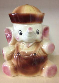 Elephant cookie jars on pinterest cookie jars elephants and baby elephants - Vintage elephant cookie jar ...
