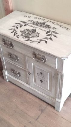French Wash Stand, Silver Grey Painted Nightstand Washstand Cabinet with French… French Furniture, Paint Furniture, Furniture Projects, Furniture Makeover, Home Furniture, Painted Night Stands, French Typography, Wash Stand, Grey Paint