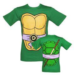 Men's Green Donatello Costume Teenage Mutant Ninja Turtles T-Shirt