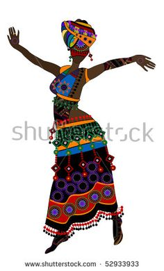 stock vector : Woman in ethnic style with a white background(10.eps)