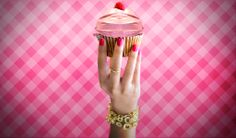 The best part of a cupcake is the icing. Forget about removing the foil, you don't want to ruin your nails. Get this look with Flame On from Triple Shine.