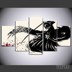 5 Piece Canvas Art Nerd