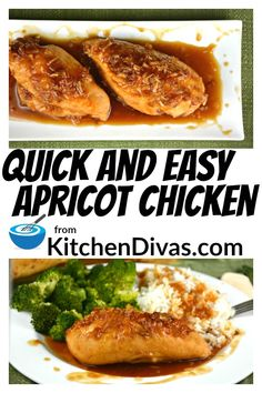 Love recipes like this Quick and Easy Apricot Chicken. Only 2 ingredients, ok 3 including the chicken! Your choice of apricot jam or jelly and onion soup mix! Chicken Onion Soup Mix Recipe, Onion Soup Recipes, Jelly Recipes, Baked Chicken Recipes, Roasted Chicken, Best Dinner Recipes, Brunch Recipes, Zaatar Recipe, Recipes