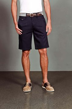 Blue Twill Tailored Shorts.