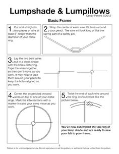 Lamp frame from scratch... forreal!