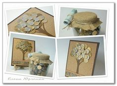 Inspiration only - money tree! Folding Money, Money Trees, Diy Cards, Homemade Gifts, Teacher Gifts, Decorative Boxes, Projects To Try, Gift Wrapping, Place Card Holders