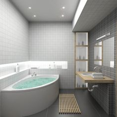 Grey and white tiles
