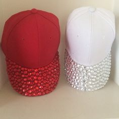 a602d06517a21 Bling up your accessories! One size fits all Choose what color cap you want  and