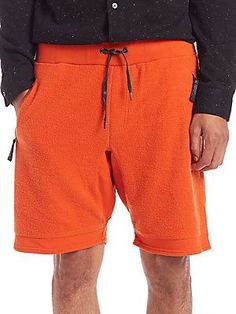Madison Supply Double-Layer Knit Shorts - Orange - Size