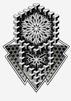 Geometric Tattoo Stencil, Geometric Tattoos Men, Geometric Sleeve Tattoo, Geometric Tattoo Design, Mandala Tattoo Design, Tattoo Stencils, Tattoo Sleeve Designs, Geometric Shapes, Tattoo Dotwork