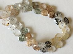 Multi Rutile Quartz Beads Multi Rutile Faceted by gemsforjewels