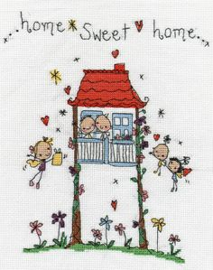 Image detail for -Juicy Lucy Designs: Home Sweet Home Counted Cross Stitch Kit