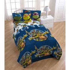 Nickelodeon Teenage Mutant Ninja Turtle Bed in a Bag Bedding Set with BONUS Tote Deal Mutant Ninja, Teenage Mutant, Bed In A Bag, Furniture Deals, Quilt Sets, Tmnt, Bedding Sets, Comforters, Home Goods