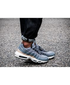 huge discount 0555f 283f7 Nike Air Max 95 Premium Light Blue Cool Grey Deep Pewter Trainer