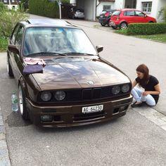 BMW E30 3series My Dream Car, Dream Cars, Bmw Old, Bmw Alpina, Bmw 3 Series, E30, Bmw Cars, Slammed, Cannon