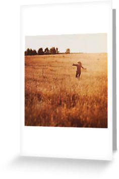 """""""field """" Greeting Cards & Postcards by annapozarycka   Redbubble"""